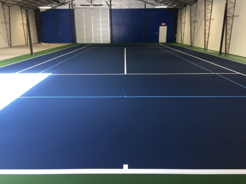 Private Residence Indoor Tennis court with quick start lines